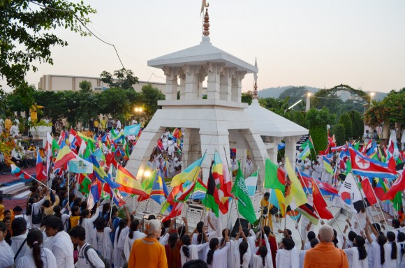 Peace peace ceremony at 3rd International Festival of Yoga, Culture, and Spirituality